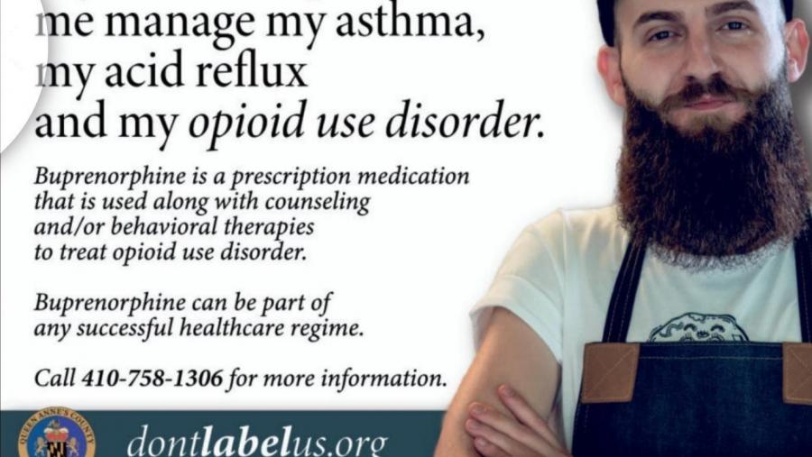 Image of a promotional message for treatment for OUD.